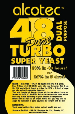 turbo yeast moonshine